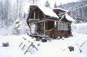 Log Cabin in the wilds, the nearest town is Haines. Alaska, USA