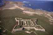 Fort Prince of Wales built in mid 18th C. at the mouth of the Churchill River. Hudson Bay, Canada.