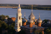 The Russian Orthodox Church of the Resurrection on the bank of the River Volga in Kostroma. Russia. 2002
