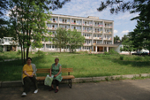 The Ivan Susanin Health Centre which is famous for using moose milk in its treatments. Kostroma, Russia. 2002