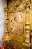 An icon of the Madonna and Child in the village Church of St. Nikolai in Pogost, Ryazan Province, Russia. 2006