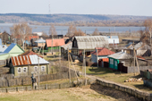 Houses in the village of Pogost, Ryazan Province. Russia. 2006