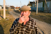 Mikhail Sobelev, has lived in the village of Pogost all his life. Ryazan Province, Russia. 2006