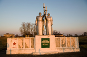 Memorial for villagers of Pogost who lost their lives in Russia's 'Great Patriotic War' (1941-45). Ryazan Province, Russia. 2006