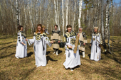 Members of the Russian folk group The 'People's Festival.' Ryazan Province, Russia. 2006