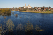 The Gus (Goose) River in flood after the Spring thaw at the town of Gus-Zhelenyy. Ryazan Province, Russia. 2006