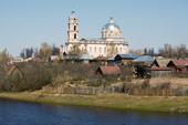 The Russian Orthodox Trinity Church is the focal point of the town of Gus-Zheleznyy (Iron Goose). Ryazan Province, Russia. 2006