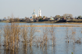 The Gus (Goose) River in flood after the Spring thaw near Pogost Village. Ryazan Province, Russia. 2006