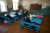 Children in class at the village school in Pogost. Ryazan Province, Russia. 2006