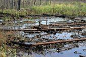 Leaking oil pipes causing pollution near the town of Niznevartovsk, Khanty Mansiysk, W. Siberia, Russia