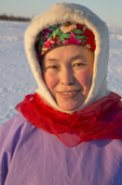 Marina Valeeva, a Komy woman from the Priuralsky District of the Yamal. NW Siberia, Russia